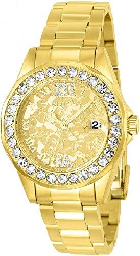 インヴィクタ インビクタ 腕時計 レディース ディズニー 22870 Invicta Women's Disney Limited Edition Quartz Watch with Stainless-Steel Strap, Gold, 18 (Model: 22870)インヴィクタ インビクタ 腕時計 レディース ディズニー 22870