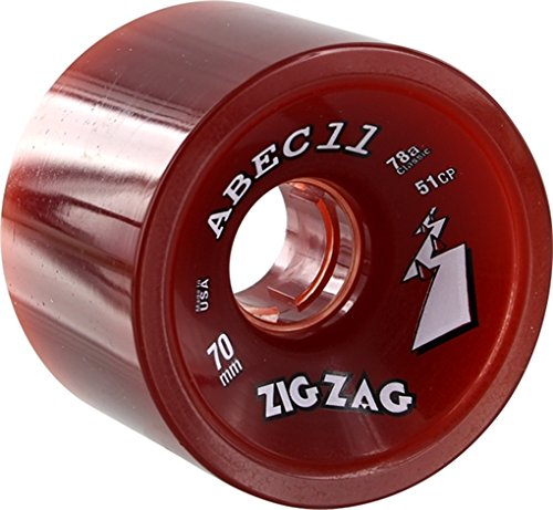 ウィール タイヤ スケボー スケートボード 海外モデル ABEC 11 Zigzags 70mm 78a Red Longboard Wheels (Set of 4)ウィール タイヤ スケボー スケートボード 海外モデル