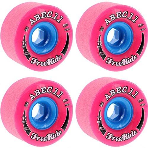 ウィール タイヤ スケボー スケートボード 海外モデル ABEC 11 Stone Ground Freerides Pink / Blue Skateboard Wheels - 70mm 78a (Set of 4)ウィール タイヤ スケボー スケートボード 海外モデル