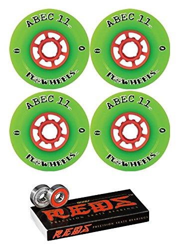 ウィール タイヤ スケボー スケートボード 海外モデル ABEC 11 97mm Flywheels Longboard Wheels with Bones Bearings - 8mm Bones REDS Precision Skate Rated Skateboard Bearings - Bundle of 2 itemsウィール タイヤ スケボー スケートボード 海外モデル