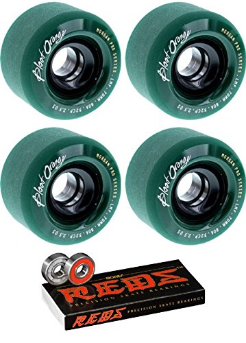 ウィール タイヤ スケボー スケートボード 海外モデル 70mm Blood Orange Morgan Series Longboard Skateboard Wheels with Bones Bearings - 8mm Bones REDS Precision Skate Rated Skateboard Bearings - Bundle ウィール タイヤ スケボー スケートボード 海外モデル