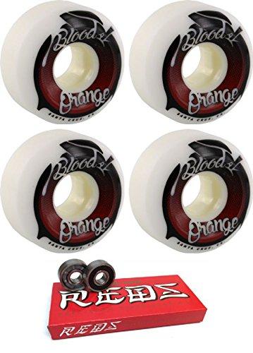ウィール タイヤ スケボー スケートボード 海外モデル Blood Orange 57mm Street Conical White/Red Skateboard Wheels - 99a with Bones Bearings - 8mm Bones Super Reds Skateboard Bearings - Bundle of 2 Itemウィール タイヤ スケボー スケートボード 海外モデル