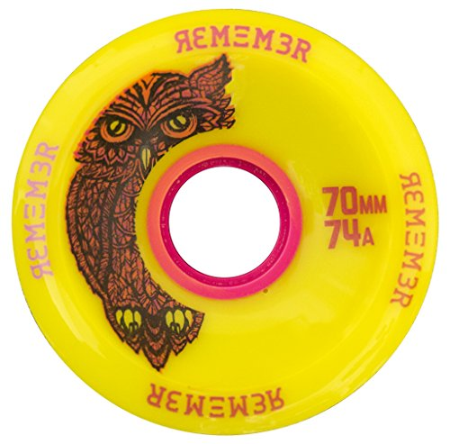ウィール タイヤ スケボー スケートボード 海外モデル RWH7074 Remember Collective Hoot Freeride Wheel, Yellowウィール タイヤ スケボー スケートボード 海外モデル RWH7074