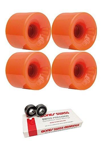 ウィール タイヤ スケボー スケートボード 海外モデル Oj Wheels 60mm Hot Juice Longboard Skateboard Wheels with Bones Bearings - 8mm Bones Swiss Skateboard Bearings - Bundle of 2 itemsウィール タイヤ スケボー スケートボード 海外モデル
