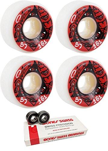 ウィール タイヤ スケボー スケートボード 海外モデル Oj Wheels 57mm Power Riders Original Skateboard Wheels with Bones Bearings - 8mm Bones Swiss Skateboard Bearings - Bundle of 2 itemsウィール タイヤ スケボー スケートボード 海外モデル