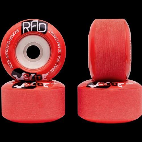 ウィール タイヤ スケボー スケートボード 海外モデル DECK RAD Glide 70mm 80a Red Longboard Skateboard Wheels Set of 4ウィール タイヤ スケボー スケートボード 海外モデル DECK