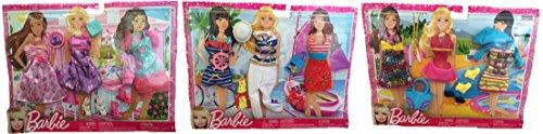 バービー バービー人形 着せ替え 衣装 ドレス Mattel Barbie Fashionistas Barbie Dress Set, Nautical Sailor Outfits Set & Casual Fashion Set Bundleバービー バービー人形 着せ替え 衣装 ドレス