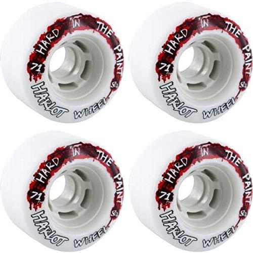 ウィール タイヤ スケボー スケートボード 海外モデル Venom Hard In The Paint White / Red Skateboard Wheels - 71mm 80a (Set of 4)ウィール タイヤ スケボー スケートボード 海外モデル
