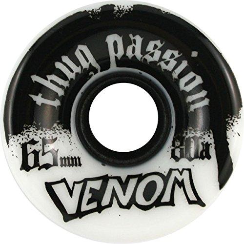 ウィール タイヤ スケボー スケートボード 海外モデル Venom Thug Passion 65mm 80a White/Black Skateboard Wheels (Set Of 4)ウィール タイヤ スケボー スケートボード 海外モデル