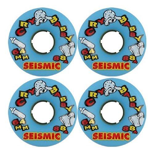 ウィール タイヤ スケボー スケートボード 海外モデル Seismic Skate Systems Cry Baby Blue Longboard Skateboard Wheels - 64mm 88a (Set of 4)ウィール タイヤ スケボー スケートボード 海外モデル