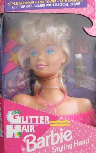 バービー バービー人形 スタイリングヘッド スタイルヘッド スタイルドールヘッド 67025 【送料無料】Barbie Glitter Hair STYLING HEAD w Glitter Gel & Magical Comb & MOバービー バービー人形 スタイリングヘッド スタイルヘッド スタイルドールヘッド 67025