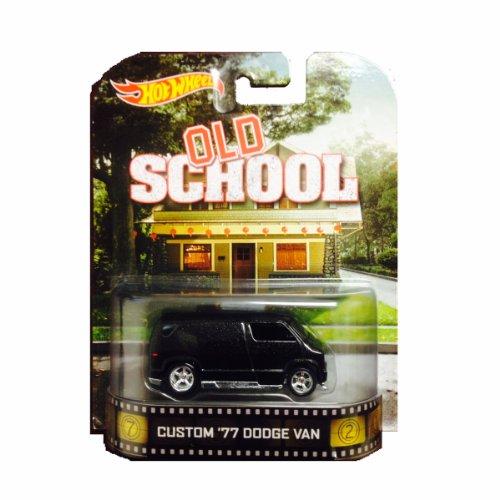 ホットウィール マテル ミニカー ホットウイール 【送料無料】Hot Wheels Old School Custom '77 Dodge Van Die-Cast Retro Entertainment Seriesホットウィール マテル ミニカー ホットウイール