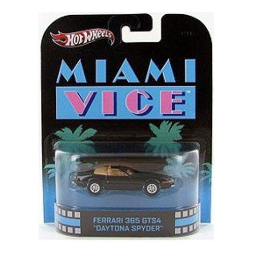 ホットウィール マテル ミニカー ホットウイール 【送料無料】Hot Wheels Retro Miami Vice 1:55 Die Cast Car Ferrari 365 GTS4