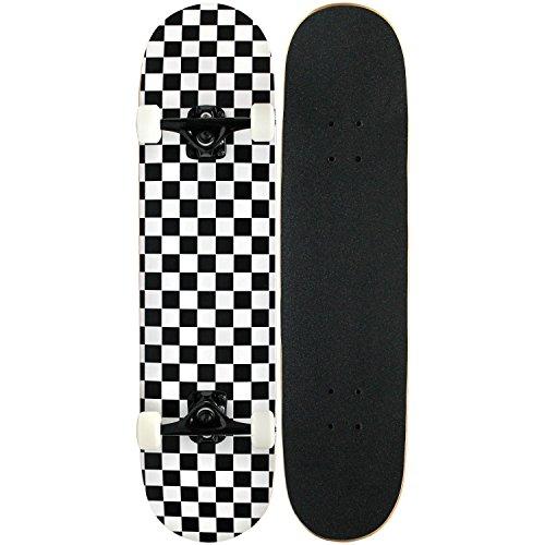 スタンダードスケートボード スケボー 海外モデル 直輸入 KPC-310 KPC Pro Skateboard Complete, Black and White Checkerスタンダードスケートボード スケボー 海外モデル 直輸入 KPC-310