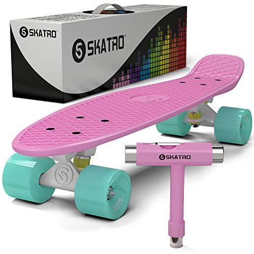 スタンダードスケートボード スケボー 海外モデル 直輸入 Skatro-PastelGarden Skatro - Mini Cruiser Skateboard. 22x6inch Retro Style Plastic board Comes Complete. Model: Pastel Parスタンダードスケートボード スケボー 海外モデル 直輸入 Skatro-PastelGarden