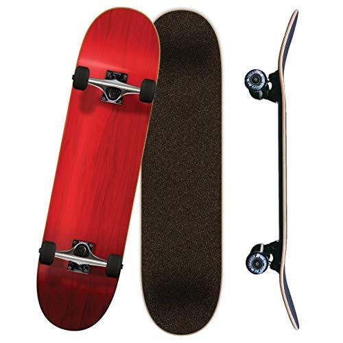 """スタンダードスケートボード スケボー 海外モデル 直輸入 Yocaher Blank Complete Skateboard 7.75"""" Skateboards - (Complete 7.75"""" Red)スタンダードスケートボード スケボー 海外モデル 直輸入"""