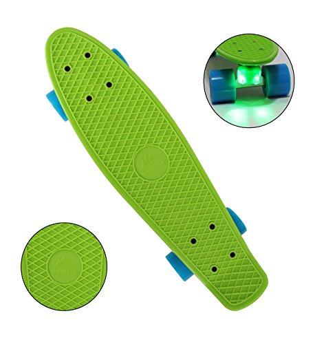 スタンダードスケートボード スケボー 海外モデル 直輸入 Wealers Cruiser Skateboard, Green, Mediumスタンダードスケートボード スケボー 海外モデル 直輸入