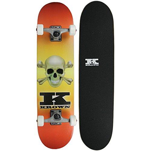スタンダードスケートボード スケボー 海外モデル 直輸入 KRRC-50 Krown Rookie Skateboard Complete Skull Fade 7.5
