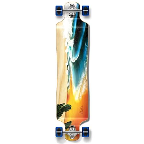 ロングスケートボード スケボー 海外モデル 直輸入 Yocaher Beach Series Complete Lowrider Skateboards Longboard w/Black Widow Premium 80A Grip Tape Aluminum Truck ABEC7 Bearing 70mm Skateboard Wheels (Compロングスケートボード スケボー 海外モデル 直輸入