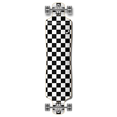 ロングスケートボード スケボー 海外モデル 直輸入 Yocaher Blank/Checker Complete Lowrider Skateboards Longboard Cruiser Black Widow Premium 80A Grip Tape Aluminum Truck ABEC7 Bearing 70mm Skateboard Wheelロングスケートボード スケボー 海外モデル 直輸入