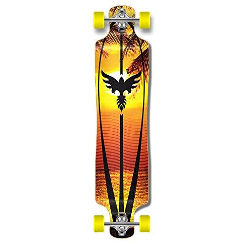 ロングスケートボード スケボー 海外モデル 直輸入 Yocaher Punked Lowrider Drop down through Longboard Complete skateboard (Sunset)ロングスケートボード スケボー 海外モデル 直輸入