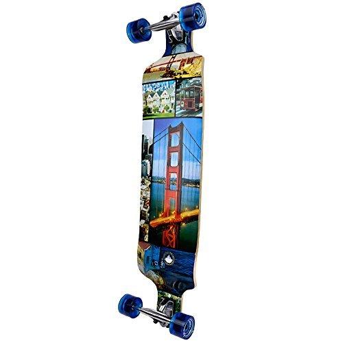 ロングスケートボード スケボー 海外モデル 直輸入 Dropdown-SF YOCAHER Professional Speed Drop Down Complete Longboard Skateboard (San Francisco)ロングスケートボード スケボー 海外モデル 直輸入 Dropdown-SF