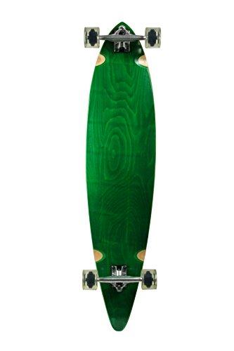 ロングスケートボード スケボー 海外モデル 直輸入 101019006008 SCSK8 Natural Blank & Stained Complete Longboard Pintail Skateboard (Green, 40ロングスケートボード スケボー 海外モデル 直輸入 101019006008