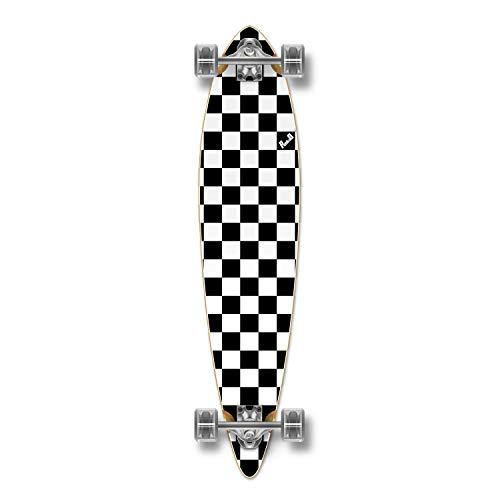 ロングスケートボード スケボー 海外モデル 直輸入 Yocaher Blank/Checker Complete Pintail Skateboards Longboard Cruiser w/Black Widow Premium 80A Grip Tape Aluminum Truck ABEC7 Bearing 70mm Skateboard Wheeロングスケートボード スケボー 海外モデル 直輸入