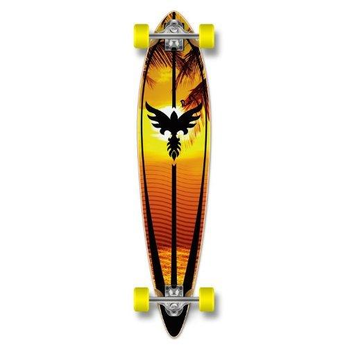 ロングスケートボード スケボー 海外モデル 直輸入 Yocaher Special Graphic Complete Longboard PINTAIL skateboard w/ 70mm wheels (Sunset)ロングスケートボード スケボー 海外モデル 直輸入