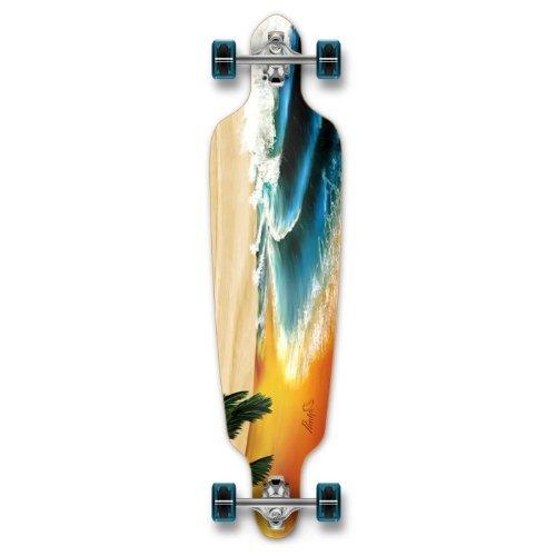 ロングスケートボード スケボー 海外モデル 直輸入 Punked New Graphics Drop Through Complete Longboard Professional Speed Skateboard (Beach)ロングスケートボード スケボー 海外モデル 直輸入