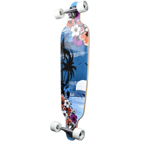 ロングスケートボード スケボー 海外モデル 直輸入 Punked New Graphics Drop Through Complete Longboard Professional Speed Skateboard (Tropical Night)ロングスケートボード スケボー 海外モデル 直輸入