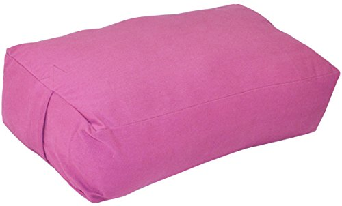 ヨガ フィットネス YogaAccessories Supportive Rectangular Cotton Yoga Bolster - Pinkヨガ フィットネス