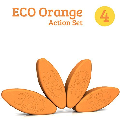 ヨガブロック フィットネス 【送料無料】Three Minute Egg? Yoga Block Action Set - 4 Yoga Eggs - ECO Orange - Made in USAヨガブロック フィットネス
