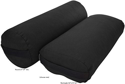 ヨガ フィットネス Bean Products Pranayama Yoga Bolster - Cotton - Blackヨガ フィットネス