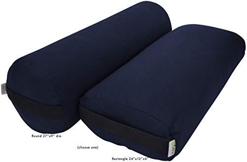 ヨガ フィットネス 【送料無料】Bean Products Yoga Bolster - Handcrafted in The USA with Eco Friendly Materials - Studio Grade Support Cushion That Elevates Your Practice & Lasts Longer - Pranayama, Cotton Navyヨガ フィットネス
