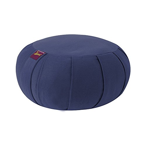 ヨガ フィットネス Yogavni-Zafu-Round-BuckWheat-Blue Round Zafu Cushion Filled with Buckwheat Hulls (Blue)ヨガ フィットネス Yogavni-Zafu-Round-BuckWheat-Blue