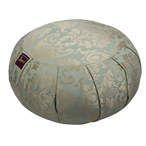 ヨガ フィットネス Yogavni-Zafu-Rnd-Turquoise-Jacquard 【送料無料】Round Smooth Silk Jacquard Design Zafu Cushion Filled with Cotton for Yoga and Meditation by Yogavni(TM) (Turquoise/Babyblueヨガ フィットネス Yogavni-Zafu-Rnd-Turquoise-Jacquard