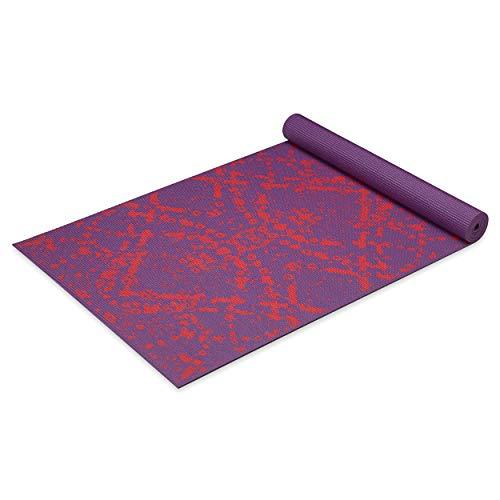 ヨガマット フィットネス 05-62247 Gaiam Yoga Mat Premium Print Extra Thick Non Slip Exercise & Fitness Mat for All Types of Yoga, Pilates & Floor Exercises, Coral Infinity, 6mmヨガマット フィットネス 05-62247