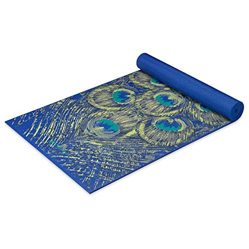 ヨガマット フィットネス 05-62431 【送料無料】Gaiam Yoga Mat Premium Print Extra Thick Non Slip Exercise & Fitness Mat for All Types of Yoga, Pilates & Floor Workouts, Sapphire Feather, 6mmヨガマット フィットネス 05-62431