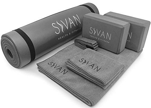 ヨガマット フィットネス Sivan Health and Fitness Yoga Set 6-Piece? Includes 1/2