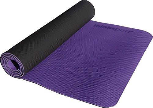 ヨガマット フィットネス SM572P Thinksport Safe Yoga Mat, Black/Purpleヨガマット フィットネス SM572P