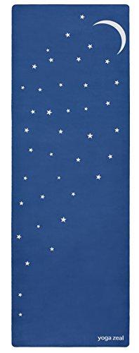 ヨガマット フィットネス Moon and Stars Mat (in Blue) - Machine Washable, Printed, Non-Slip, Thick, Extra Long, Best Grip/Combo Mat, Great for Sweaty Practiceヨガマット フィットネス