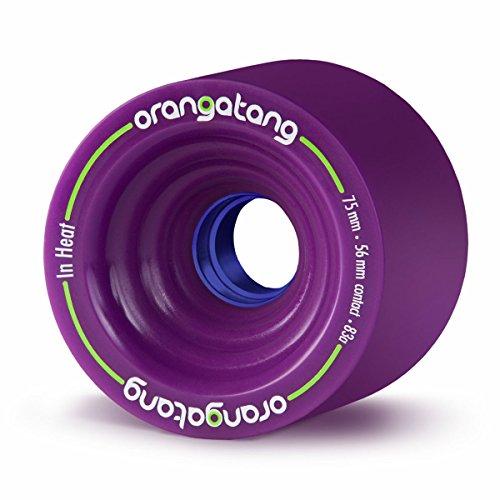 ウィール タイヤ スケボー スケートボード 海外モデル Orangatang in Heat 75 mm 83a Downhill Longboard Skateboard Cruising Wheels w/Loaded Jehu V2 Bearings (Purple, Set of 4)ウィール タイヤ スケボー スケートボード 海外モデル