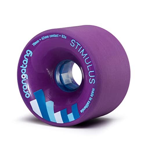 ウィール タイヤ スケボー スケートボード 海外モデル Orangatang Stimulus 70 mm 83a Freeride Longboard Skateboard Wheels w/Loaded Jehu V2 Bearings (Purple, Set of 4)ウィール タイヤ スケボー スケートボード 海外モデル