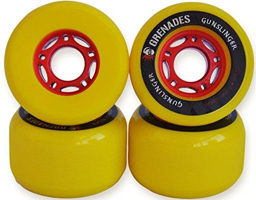 ウィール タイヤ スケボー スケートボード 海外モデル Gunslinger Grenades Longboard Wheels 72mm - Yellowウィール タイヤ スケボー スケートボード 海外モデル