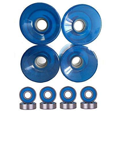 ウィール タイヤ スケボー スケートボード 海外モデル 76mm Wheels w/ Turbo Bearings (Clear Blue)ウィール タイヤ スケボー スケートボード 海外モデル