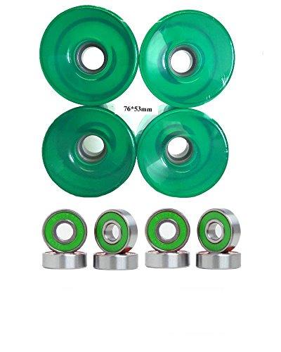ウィール タイヤ スケボー スケートボード 海外モデル 76mm Wheels w/ Turbo Bearings (Clear Green)ウィール タイヤ スケボー スケートボード 海外モデル