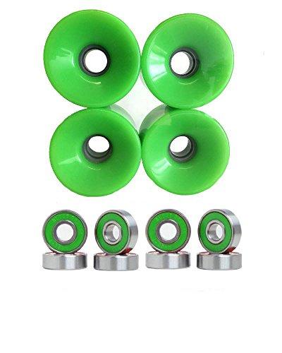 ウィール タイヤ スケボー スケートボード 海外モデル 【送料無料】Turbo 76mm Wheels w Bearings (Green)ウィール タイヤ スケボー スケートボード 海外モデル
