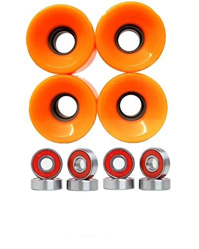 ウィール タイヤ スケボー スケートボード 海外モデル 76mm Longboard Wheels with Bearings set (Orange)ウィール タイヤ スケボー スケートボード 海外モデル