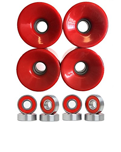 ウィール タイヤ スケボー スケートボード 海外モデル 76mm Wheels w/ Turbo Bearings (Red)ウィール タイヤ スケボー スケートボード 海外モデル